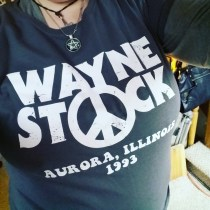 Party On With Waynestock T-Shirt from Five Finger Tees