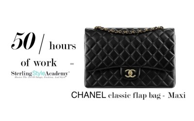 Work 50 Hours = Chanel Maxi Bag