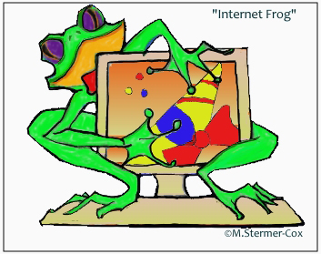 Digital cartoon created by Margaret Stermer-Cox 2002