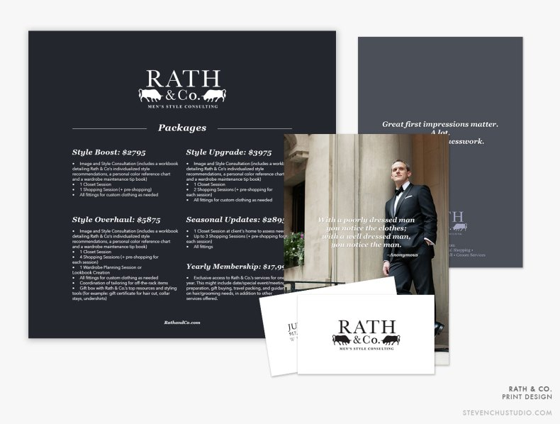 Rath & Co. Men's Style Consulting - Graphic Design: Print - Steven Chu
