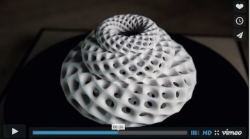 3D sculpture based on Fibonacci Sequence