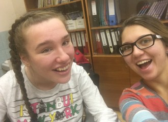Dasha Getina and Anya Emmons SGF volunteer