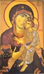 Georgian Mother of God icon card
