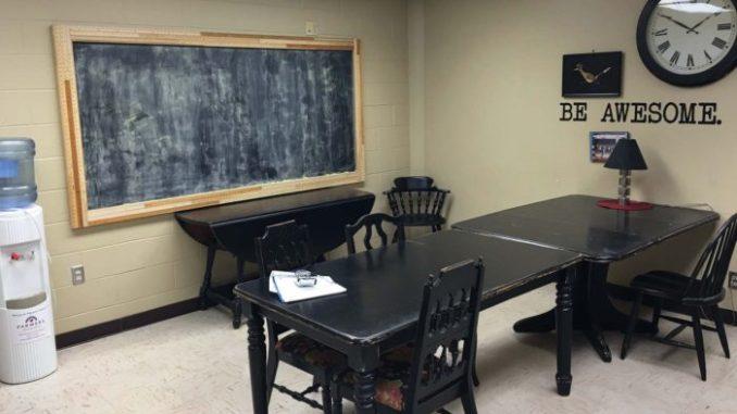 Sangre Ridge Elementary Teachers Lounge BEFORE!