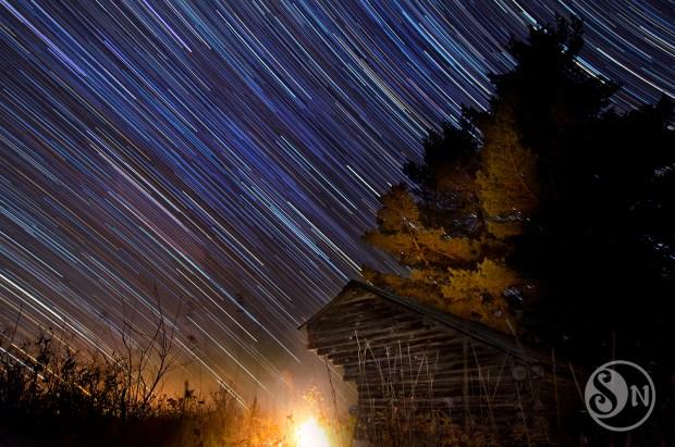 Shelter Star Trails