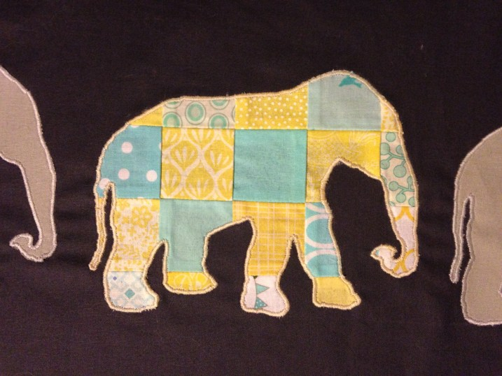 Elephants on Parade WIP, by Stitchified