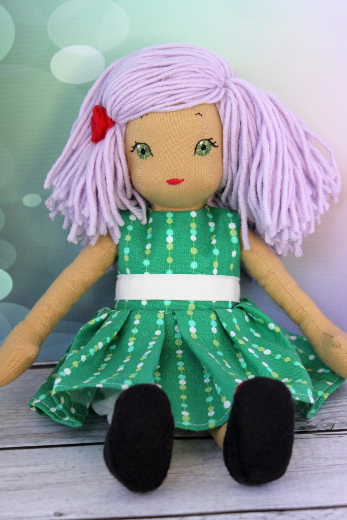 Custom cloth doll, by Stitchified