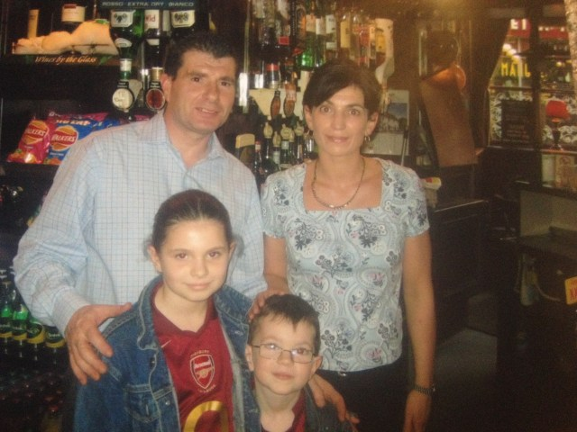 Brendan and Deirdre Cluskey with two of their three children in 2004 © Brendan Cluskey