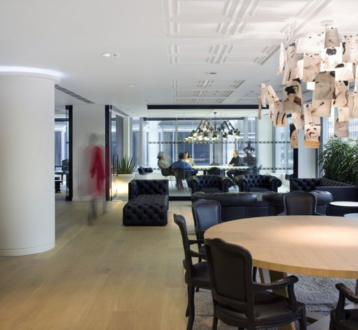 A home in the office, a perfect space for staff to interact