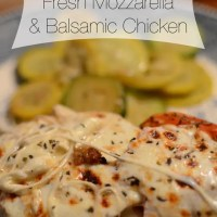 Fresh Mozzarella and Balsamic Chicken