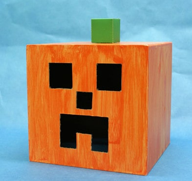 Minecraft (real life) Halloween Pumpkin