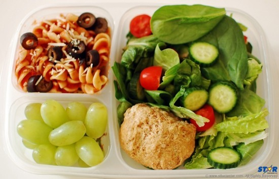"""A healthy lunch: Do kids benefit from having a balanced meal with plenty of fresh fruits and vegetables and sensible """"good"""" carbohydrates? Michelle Obama in the USA and Jamie Oliver in the UK have led winning campaigns highlighting the importance of healthy eating for kids at school and at home."""