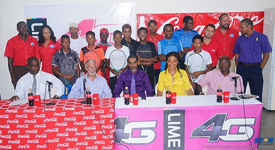 The head table along with sponsors and players at Thursday's ITF Junior International Coca-Cola Tennis Tournament press conference at the National Tennis Centre.