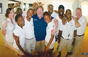 Management and team members of Dive Saint Lucia at last week's opening.