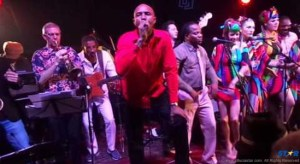 """Red Platic Bag, Lennon """"Blaze"""" Prospere and others performing with Lord Mouse and the Kalypso Katz in Berlin."""