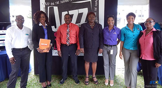 From l-r : Heineken Brand Manager Gaius Harry, Mrs Corliss Charles Sutton of RBTT/RBC, Louis Lewis Director of Tourism, Jacinta James of Saint Lucia Distillers, Sergin Joseph Marketing Manager Saint Lucia Distillers, Sharlene Jn Baptiste LIME, and Juanita St. Omer of Landmark Events.