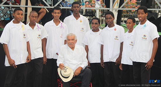 Derek Walcott at the Square named after him.