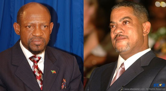 Left - Former St. Christopher-Nevis prime minister Denzil Douglas: Did his lawyers deliver what taxpayers paid for? Right - Former deputy prime minister, now Justice Mario Michel: Did he and his fellow judges dismiss certain details as irrelevant?