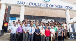 Representatives of the IAU College of Medicine and St. Jude hospital gathered to celebrate World Blood Donor Day.