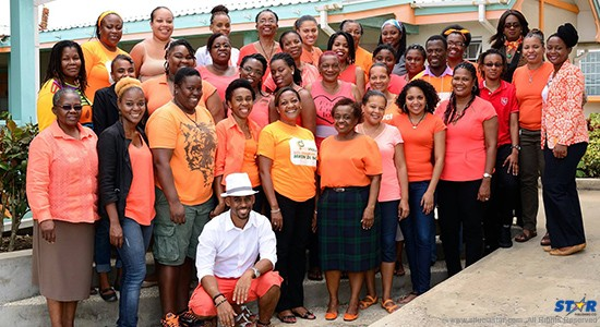11th CIGAD participants and IGDS:NBU staff marking Orange Day, 25th July.