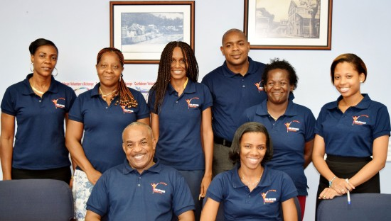 Members of Volunteer Saint Lucia who are attending the inaugural CVX, Trinidad and Tobago 2015.