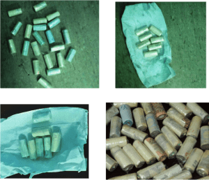 Photographs of drugs recovered