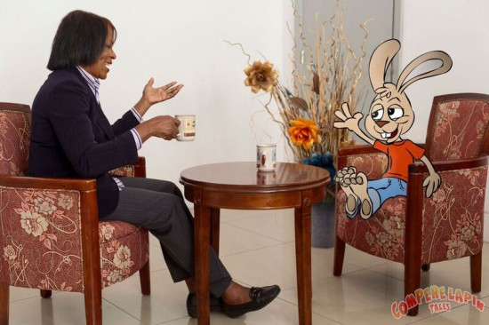 Jacintha Annius-Lee takes her favourite folk tale character Compere Lapin global.