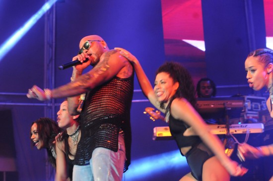 Action at Saint Lucia Jazz 2015 with Flo Rida bringing down the house at Pigeon Island.