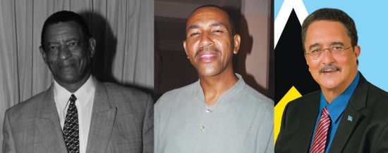 (Left) Deceased George Odlum: Were he to make a return visit to Saint Lucia today he would discover how little positive change has occurred since he departed this vale of fears! (Centre) Andre Paul: The host of What Makes Me Mad tried his utmost to persuade a determined caller to Wednesday's show that Christ is the answer to his problems. (Right) Prime Minister Kenny Anthony: Is he more concerned with his FB impersonators than with the harsh realities of life in Saint Lucia 37 years after Independence?