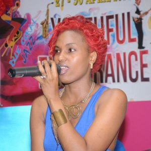 "Singer Chrycee performing this week during Blue Coral Mall Jazz under the theme ""Celebrating Youthful Exuberance"". (photo Dave Pascal)"