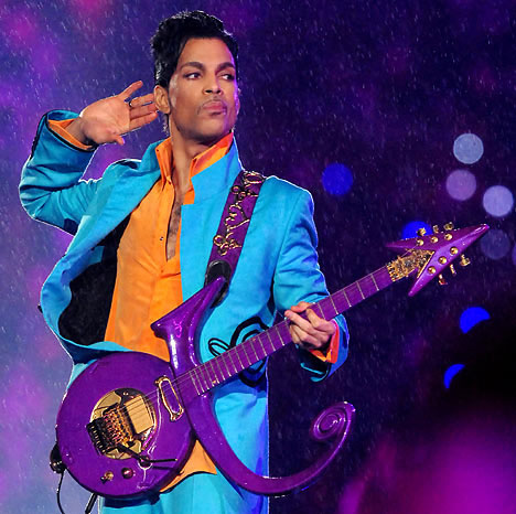 Singer, songwriter, producer, musician, philanthropist and pop music icon, Prince.