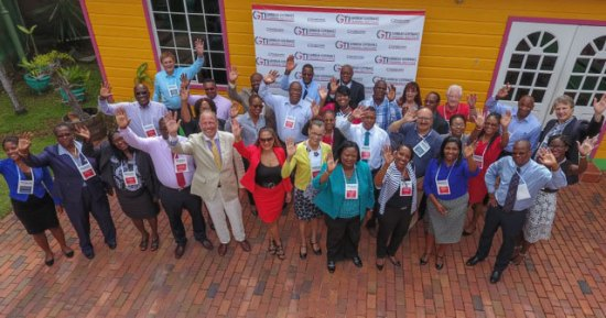 CGTI personnel with jubilant delegates at the annual Hot Topics Conference.