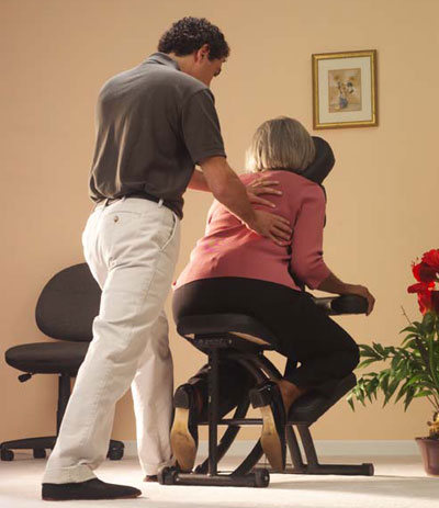 Corporate On-Site Chair Massage by Simsbury Therapeutic Massage & Wellness