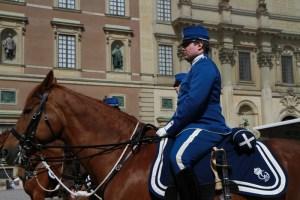 Смена караула у Королевского дворца в Стокгольме, посмотреть на экскурсии с русским гидом по Стокгольму, когда