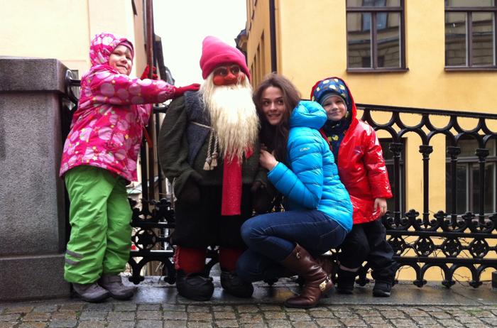 довольные туристы в Стокгольме