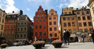 большая площадь Старого города в Стокгольме