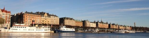 фото - панорама на корабли Стокгольма