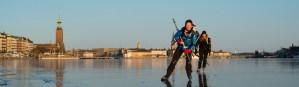 стокгльмская ратуша зимой во льду