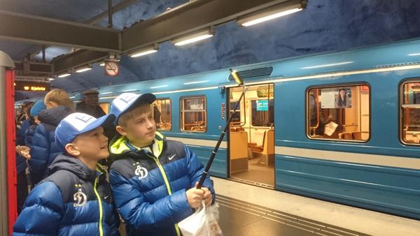 селфи динамо в метро стокгольма