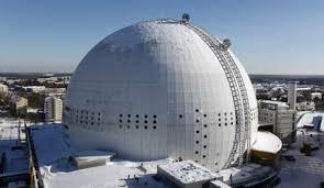 вид на смотровую площадку Глобен в Стокгольме