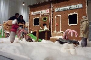 куда пойти на новый год выставка пряничных домиков в Стокгольме 2014