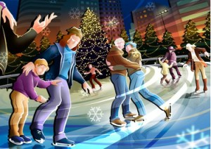 покататься на коньках в Стокгольме 30 апреля 2