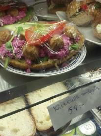 шведский бутерброд с фрикадельками в городской библиотеке