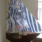 Ann Holmes's amazing recycled boat.