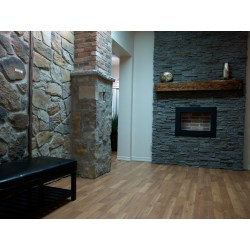 Small Crop Of Faux Stone Fireplace