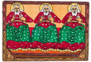Three Holy Men, by Semachw Messfn, age 10, Ethiopia