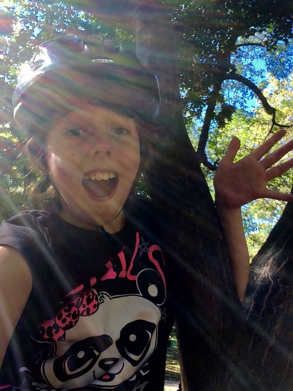 """""""Me in a Tree With Jazz Hands"""" Lucy Humble, age 11, NY"""