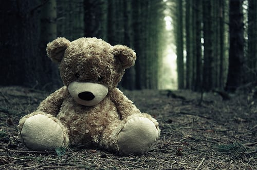 lonely-lost-sad-teddy-bear-woods-Favim.com-44395