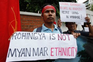 Anti-Rohingya demonstrators
