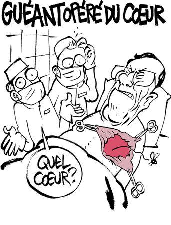 Guéant opéré du cœur - Charlie Hebdo le site - 13 juillet 2011
